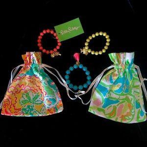 Lilly Pulitzer Stretch Charm Bracelet Trios